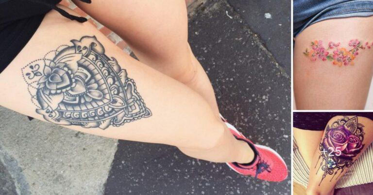 Mas de 25 Diseños e Ideas de Tatuajes de Mujer en la Pierna