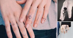 Imágenes de Pequeños Tatuajes en los Dedos