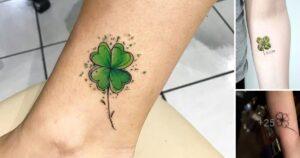 Mas de 25 Ideas de Tatuajes de trébol para la Buena Suerte