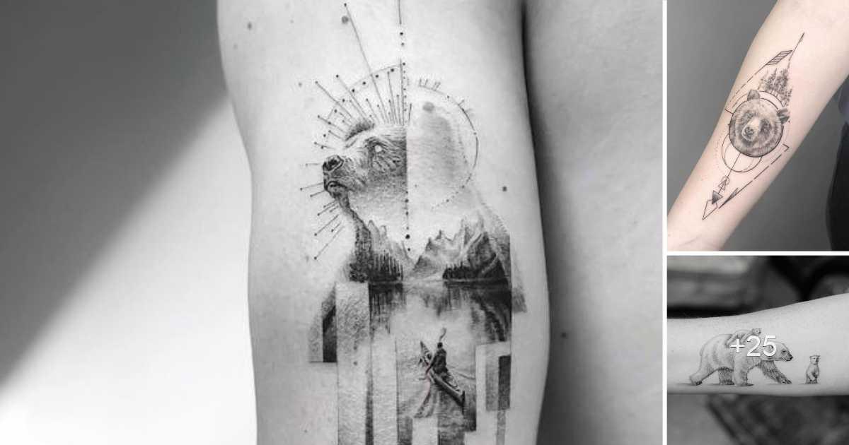 Los 30 Tatuajes de Osos mas Asombros y su Significado