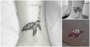 Los Mejores Diseños de  Tatuajes de Tortugas y su Significado