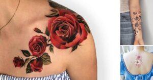 Los 40 Diseños Mas Lindos de Tatuajes de Flores y Rosas