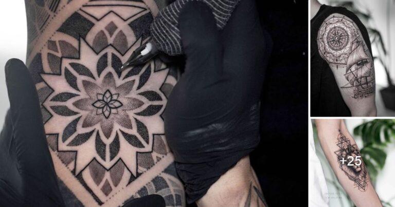 Perfectos Tatuajes Geométricos, te dejarán hipnotizado