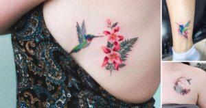 25 Creativos y Coloridos Tatuajes de Colibrí
