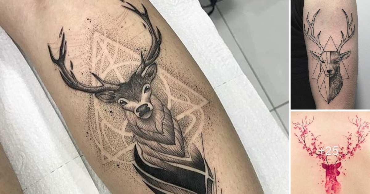En este momento estás viendo 40 Ideas de Tatuajes de Ciervos y su Significado