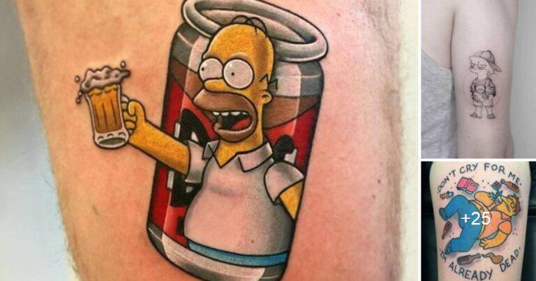 Ideas de Tatuajes Inspirados en la Seria de los Simpson