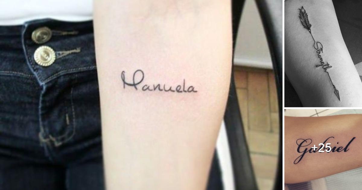 Los 45 Mejores Diseños e Ideas de Tatuajes con Nombres