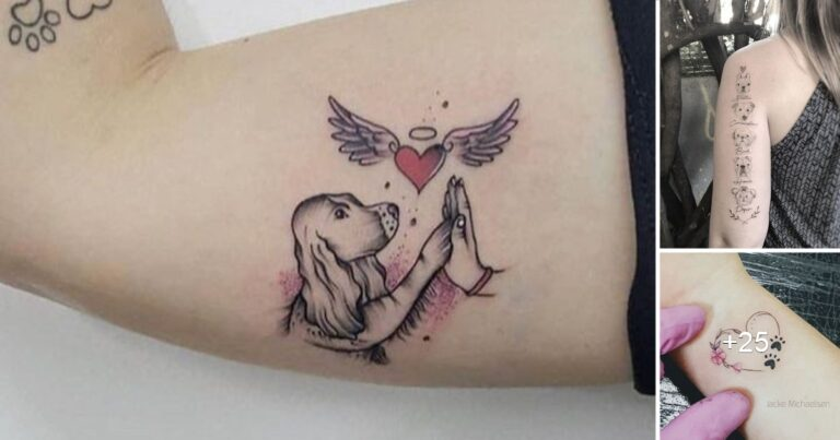 40 Lindas Ideas de Tatuajes Inspiradas en las Mascotas