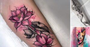30 Nuevos Diseños de Tatuajes en Forma de Boceto
