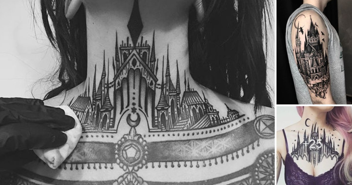 Los 25 mejores diseños de Tatuajes de Castillos