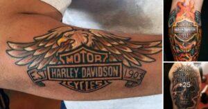Diseños de Tatuajes Inspirados en la Marca Harley Davidson