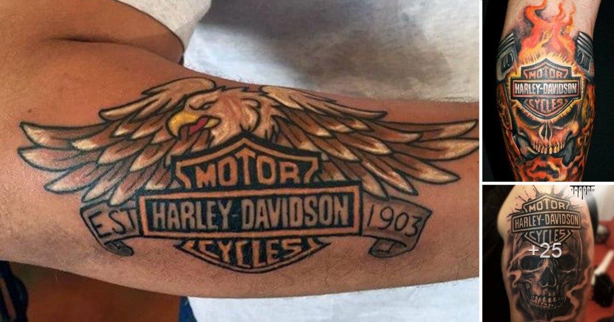 En este momento estás viendo Diseños de Tatuajes Inspirados en la Marca Harley Davidson