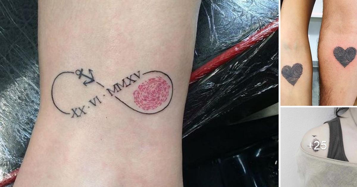 Creativos Tatuajes en Forma de de Huella Digital