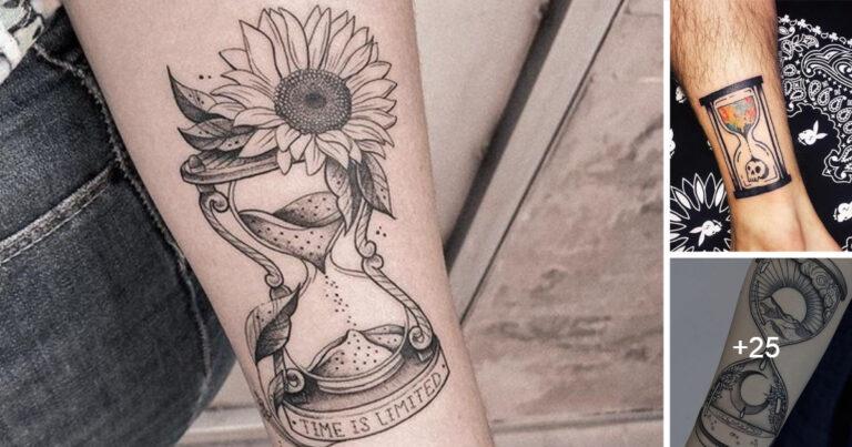 Ideas de Tatuajes de Reloj de Arena