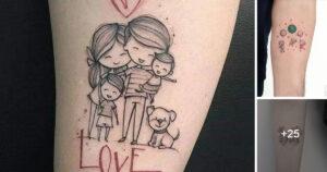 Hermosos Tatuajes que representan la Unión Familiar
