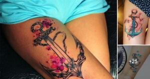 Ideas de Tatuajes de Anclas para Mujeres