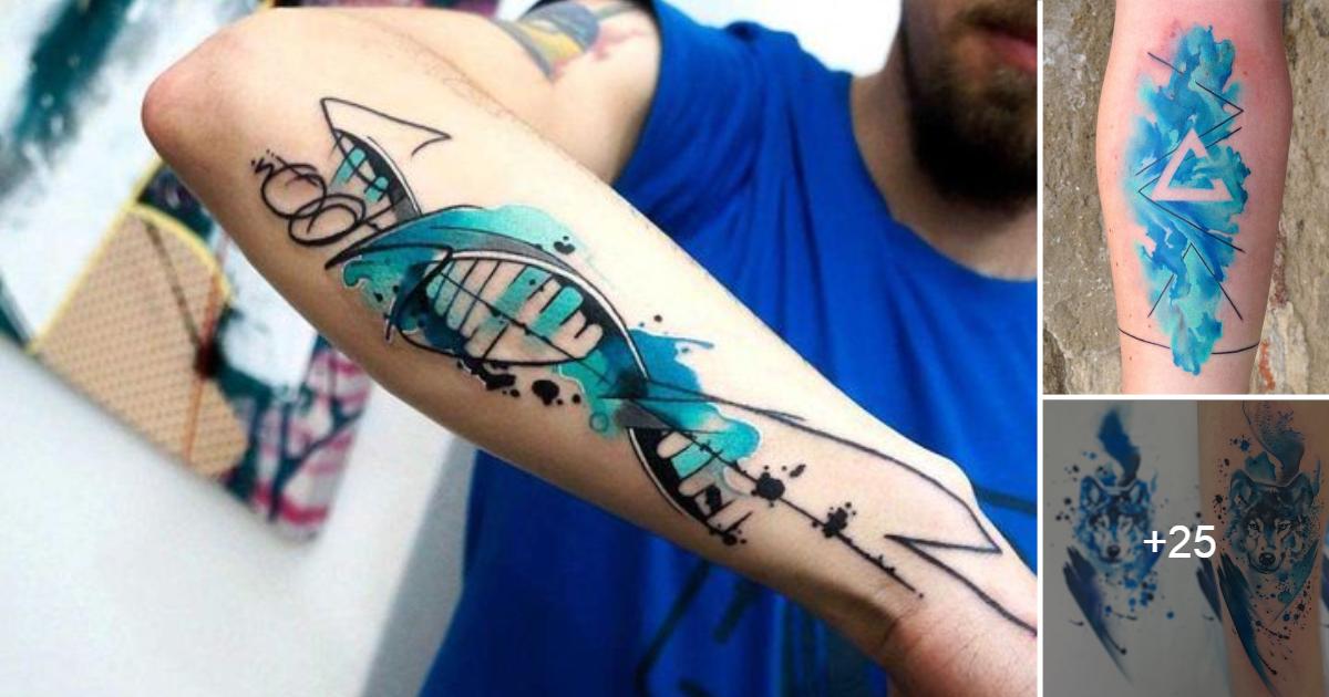 Ideas de Tatuajes con Tinta Azul