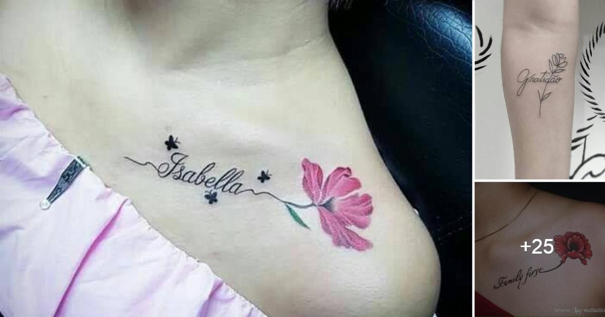En este momento estás viendo Ideas de Tatuajes de Flores y Nombres