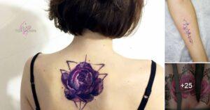 Ideas de Tatuajes de flores Moradas