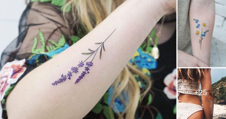 25 Ideas de tatuajes en brazos para mujeres