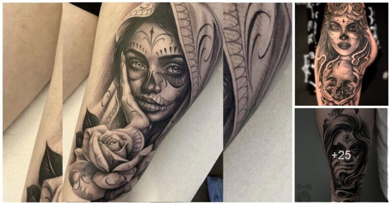 25 Diseños de Tatuajes de Catrinas