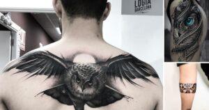 25 Diseños de Tatuajes de Pequeños Búhos