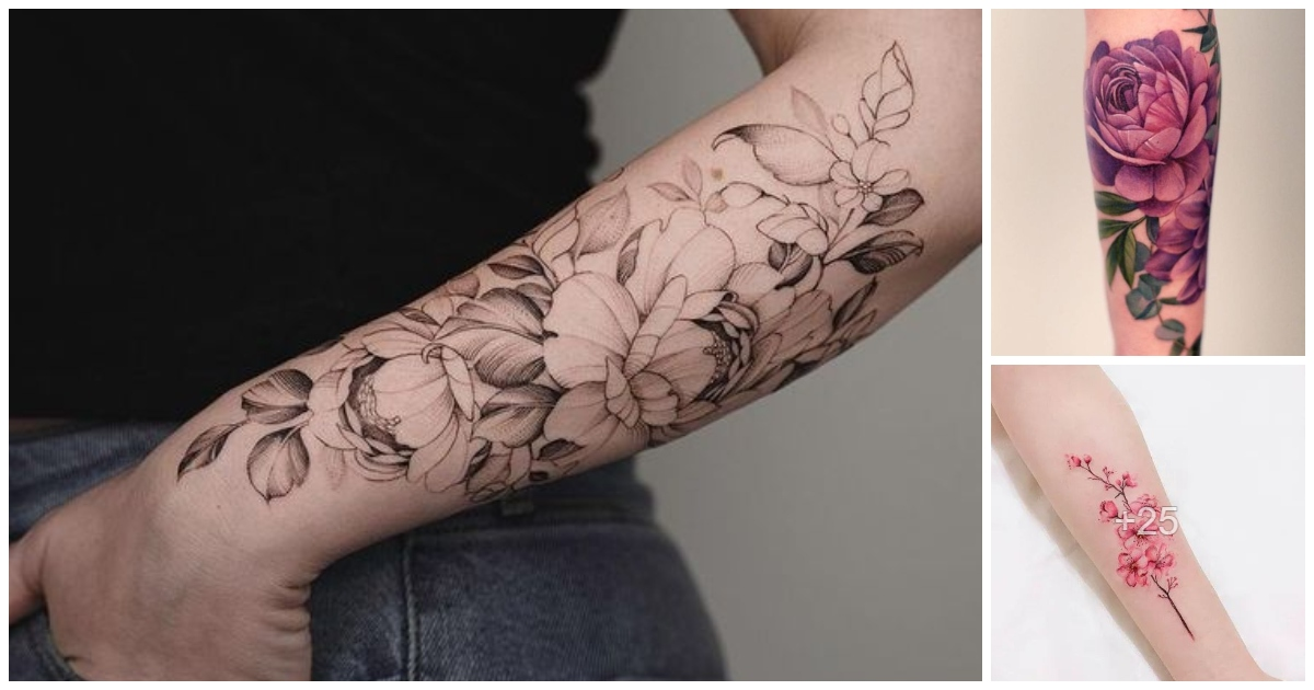 30 Diseños de Tatuajes de Flores en el Antebrazo