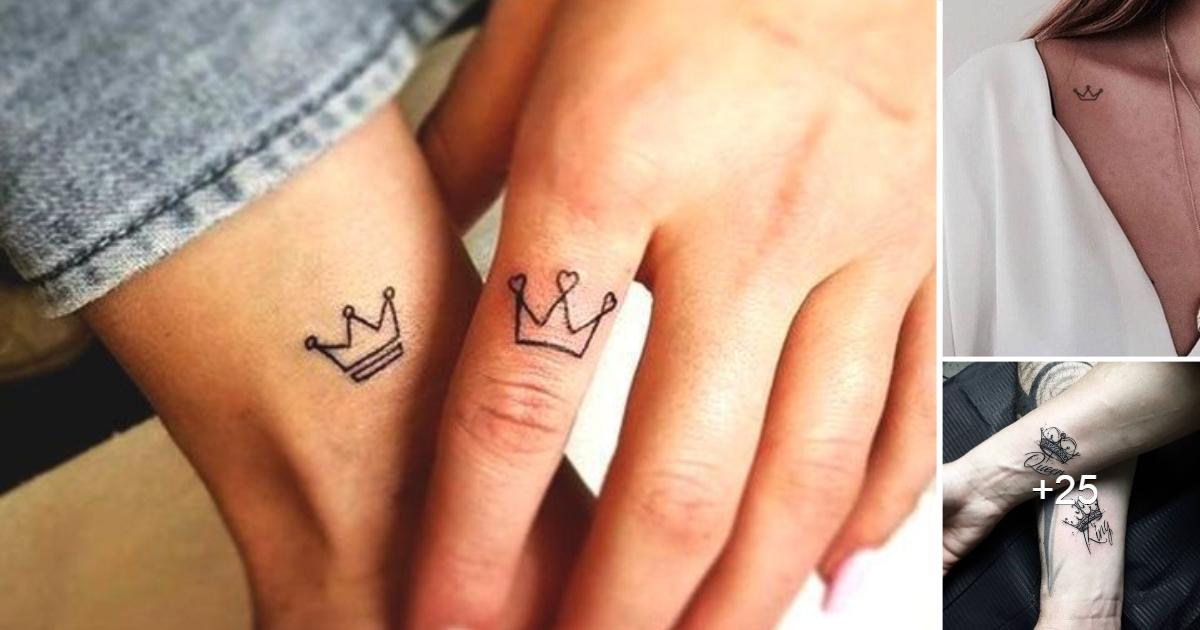 Lindas ideas de tatuajes de pequeñas coronas minimalistas