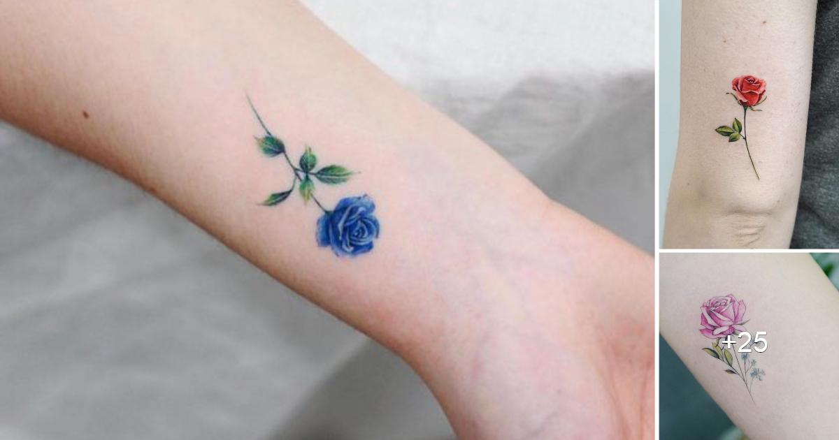 Encantadoras Ideas de Tatuajes de Rosas Pequeñas