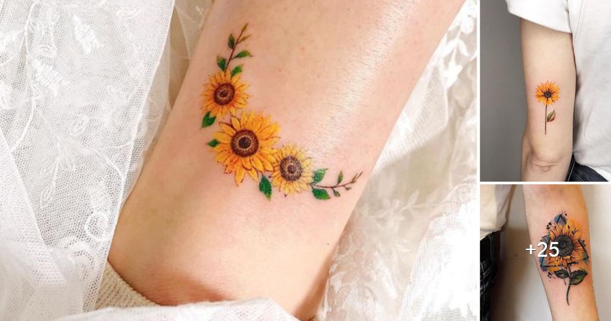 40 Coloridos Diseños de Tatuajes de Girasoles