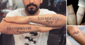 Tatuajes con números romanos que marcarán tu fecha más memorable