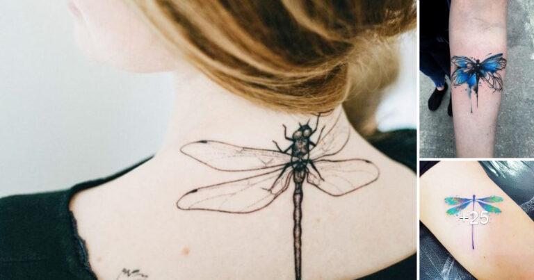 Lee más sobre el artículo 15 impresionantes diseños de tatuajes de libélulas