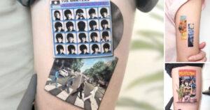 Artista del Tatuaje crea pequeñas obras de arte inspiradas en algunas obras o peliculas