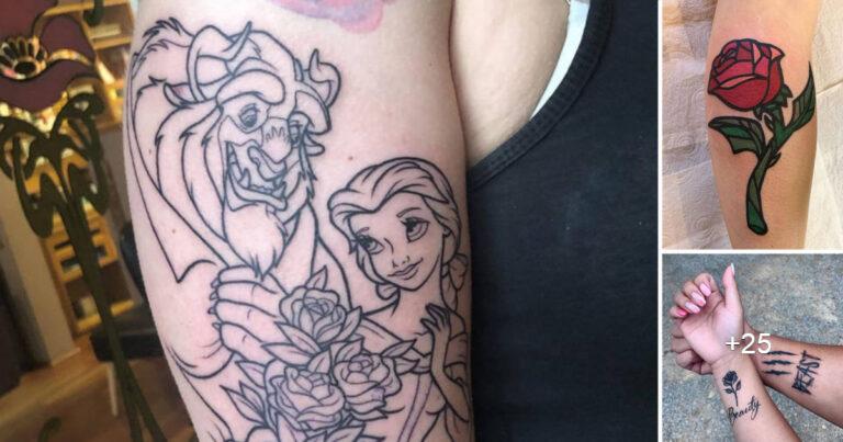 Más de 30 tatuajes Inspirados en La Bella y la Bestia