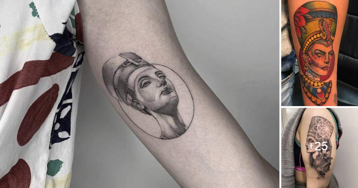 Las mejores ideas de tatuajes de la Reina Nefertiti