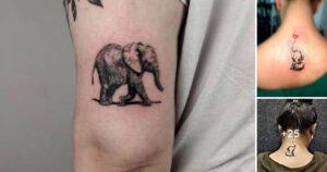 Las 21 mejores ideas de tatuajes de elefantes pequeños