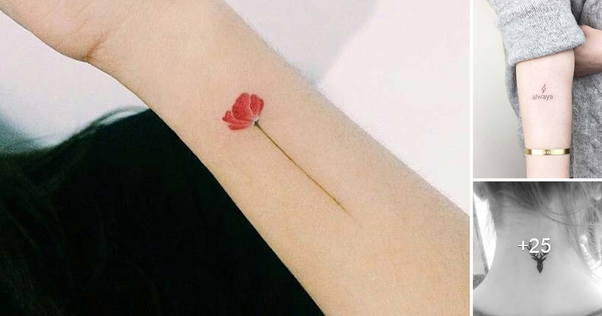 21 impresionantes y pequeñas ideas de tatuajes para mujeres