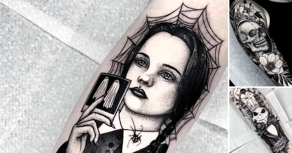 Tatuajes de Angelo Parente inspirados en peliculas de terror